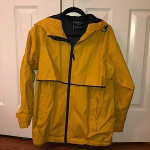 Charles River yellow rain coat unisex